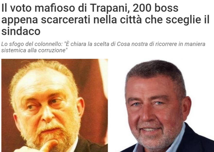 La fake news dei 200 boss scarcerati a Trapani prima del voto…