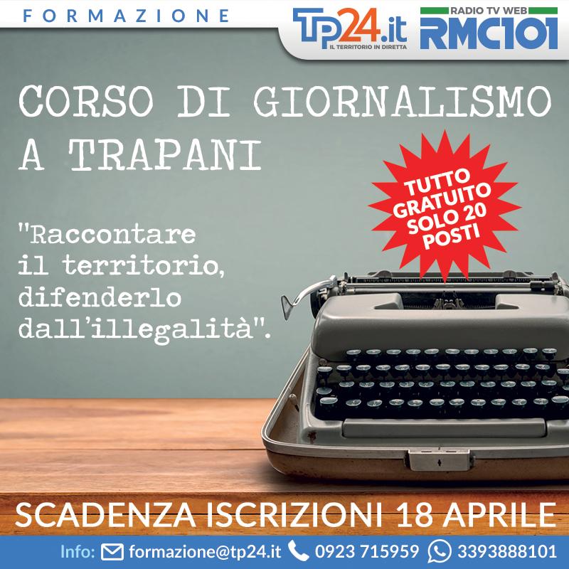 Un corso di giornalismo gratuito a Trapani